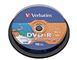 Verbatim Azo Spindle of 10 DVD-R Discs 16x 4.7 GB