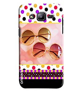 Omnam Shades Pattern With Coloful Background Printed Designer Back Cover Case For Samsung Galaxy J2