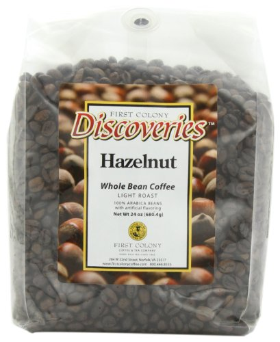 First Colony Whole Bean Coffee, Hazelnut, 24-Ounce