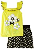 Kids Headquarters Girls 2-6X Top With Printed Shorts