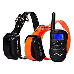 VIYAO Rechargeable and Waterproof 330 Yards Remote Dog Training Shock Collar with Beep / Vibration / Shock Electronic E-Collar