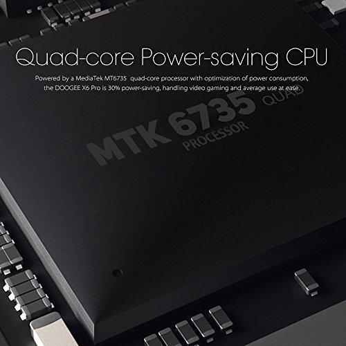 DOOGEE-X6-Pro-4G-Smartphone-Android-51-OS-Quad-Core-MTK6735-2GB-RAM-16GB-ROM-55-cran-2MP-5MP-doubles-camras-HD-personnalis-linterface-utilisateur-pour-une-plus-grande-Interaction-temprature-du-geste-d