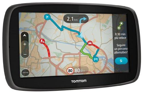 TomTom GO 60 EU 45 GPS per Auto, Schermo 6 Pollici, 8 GB, Nero