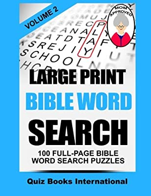 Large Print Bible Word Search Volume 2: 100 Bible Related Word Search Puzzles