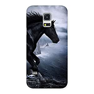 Special Premier Black Horse Back Case Cover for Galaxy S5 Mini