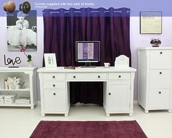 Agen twin pedestal large computer study desk furniture