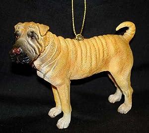 "4"" Shar Pei Dog Christmas Ornament #86096"