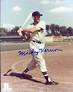 Mickey Vernon (D. 2008) Autographed  Original Signed 8x10 Color Photo w  the... by Original Sports Signatures