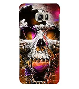 ColourCraft Skull Back Case Cover for SAMSUNG GALAXY S6 EDGE PLUS