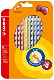 Office Product - STABILO EASYcolors 12er Etui mit Spitzer rechts - ergonomische Buntstifte