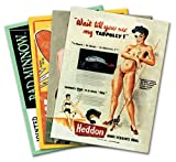 "SET of FOUR (4) Fishing Lure PINUP Girl Mini Poster Tool Box Magnets - each measure 3"" wide by 4"" high (77mm wide x 102mm high)"