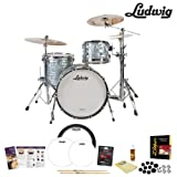 Ludwig USA Classic Maple 3 Pc Drum Kit in Sky Blue Pearl (L8303AX52WC) Includes Zildjian ZBTX390 Cym