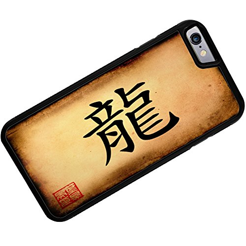Rubber Case for iphone 6 Chinese characters, letter Dragon – Neonblond