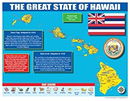 Gallopade Publishing Group Hawaii State Map for Students - Pack of 30 (9780635106384)