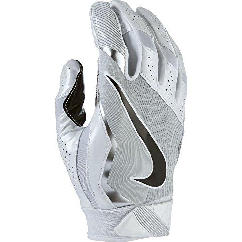 Men's Nike Vapor Jet 4 Football Gloves White/Wolf Grey/Black Size Large