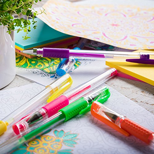 """Gel Pens For Adult Coloring Books to Reduce Stress And Increase Mindfulness (24 pack """"Buy a Set, Give a Set"""" with storage case)"""