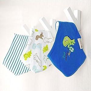 VKTECH- Pack de 3 baberos con imágenes divertidad para niños