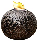 Evergreen-2LA428-Elegance-Firepot-Embossed-Ceramic-7-x-7-x-5-12-In