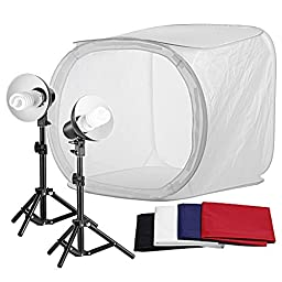 Neewer Table Top Round Photography Studio Tent Lighting Kit:(1)30x30\