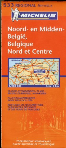 Belgium: North & Central 533 Michelin (Maps/Regional (Michelin))