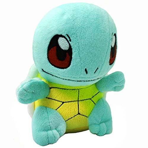 "AOFENG INC. Pokemon Squirtle/Zenigame Rare Soft Plush Toy Doll 6.5"" Free, Blue - 1"
