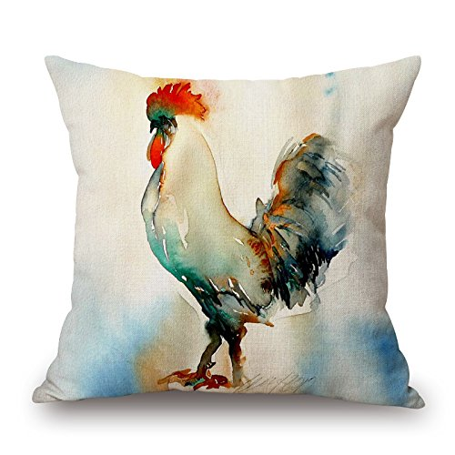 Elegancebeauty The Chicken Throw Pillow Covers Of ,20 X 20 Inches / 50 By 50 Cm Decoration,gift For Kitchen,play Room,gf,outdoor,couples,car Seat (2 Sides)
