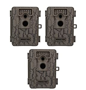 (3) MOULTRIE Game Spy A-5 Low Glow Infrared Digital Trail Hunting Cameras | 5 MP by Moultrie