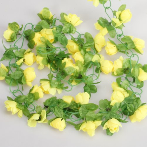 Artificial Rose Garland Silk Flower Vine for