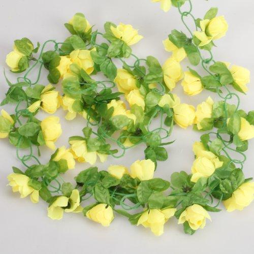 Artificial Rose Garland Silk Flower Vine for