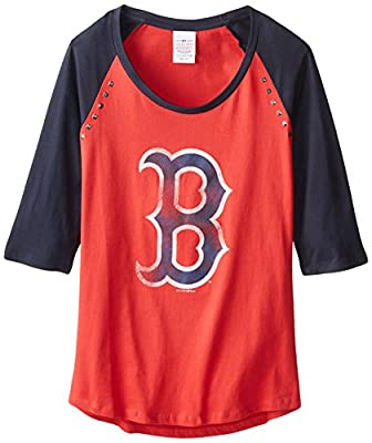 MLB Boston Red Sox 3/4 SLVS Raglan Crew