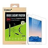 Cyxus ブルーレイ青色光防止 高光沢気泡極薄指紋液晶保護9Hの硬度強化ガラス保護フィルム Apple iPad 1/2/3/4 用 JP-176