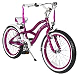 BIKESTAR® Premium Design Kinderfahrrad für coole Kids ab 6 Jahren ★ 20er Deluxe Cruiser Edition ★ Creamy Violet
