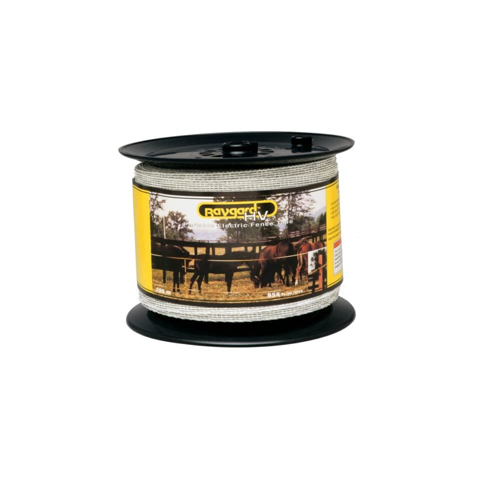 Baygard 00680 656/' White High Visibility Electric Fence Tape
