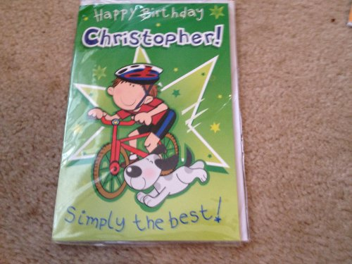 Happy Birthday Christopher - Singing Birthday Card - 1