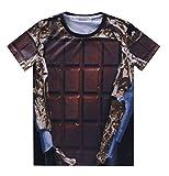 Pretty321 Men Women 3D Black Chocolate Hip Hop Graffiti Unisex Funny T-shirt