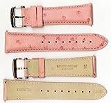 Invicta Genuine Unisex 24mm Pink Ostrich Leather Watch Strap IS327