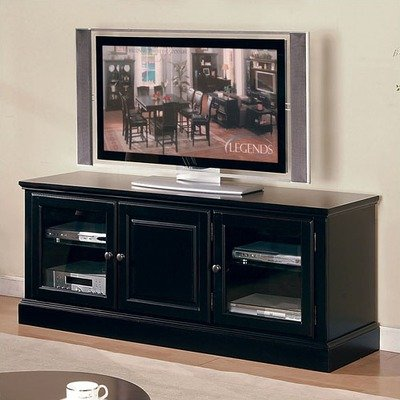 Image of Forest Glenn TV Stand and Hutch in Antique Black Finish (Forest Glenn)
