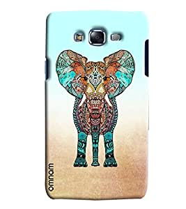 Omnam Elephant In Color Effect Printed Designer Back Cover Case For Samsung Galaxy J5