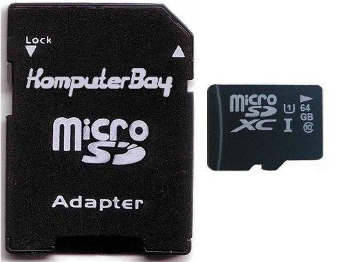 Komputerbay 64GB Class 10 UHS-1 Grade 1 70MB/s MicroSDXC Pro Memory Card with Komputerbay SD Adapter