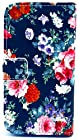 myLife Dark Navy Blue and Sky Blue {Vintage Flowers Design} Faux Leather (Card, Cash and ID Holder + Magnetic Closing) Slim Wallet for Galaxy Note 3 Smartphone by Samsung (External Textured Synthetic Leather with Magnetic Clip + Internal Secure Snap In Closure Hard Rubberized Bumper Holder)