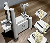Spiralizer By Palermo- Voted the Best Vegetable Maker, Spiral Slicer, Peeler, Shredder, Cutter and Chopper Youll Ever Use. Makes Zucchini Noodles, Veggie Spaghetti, Pasta, French Fry and Julienne & Mandoline Cut Vegetables in Minutes. 100% Risk Free with Lifetime Guarantee.