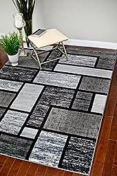 3995 Gray 5\'2x7\'2 Area Rug Modern Carpet Large New