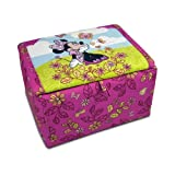 Disney Minnie Mouse Cuddly Cuties Upholstered Storage Box (Pink) (16H x 28W x 20D)