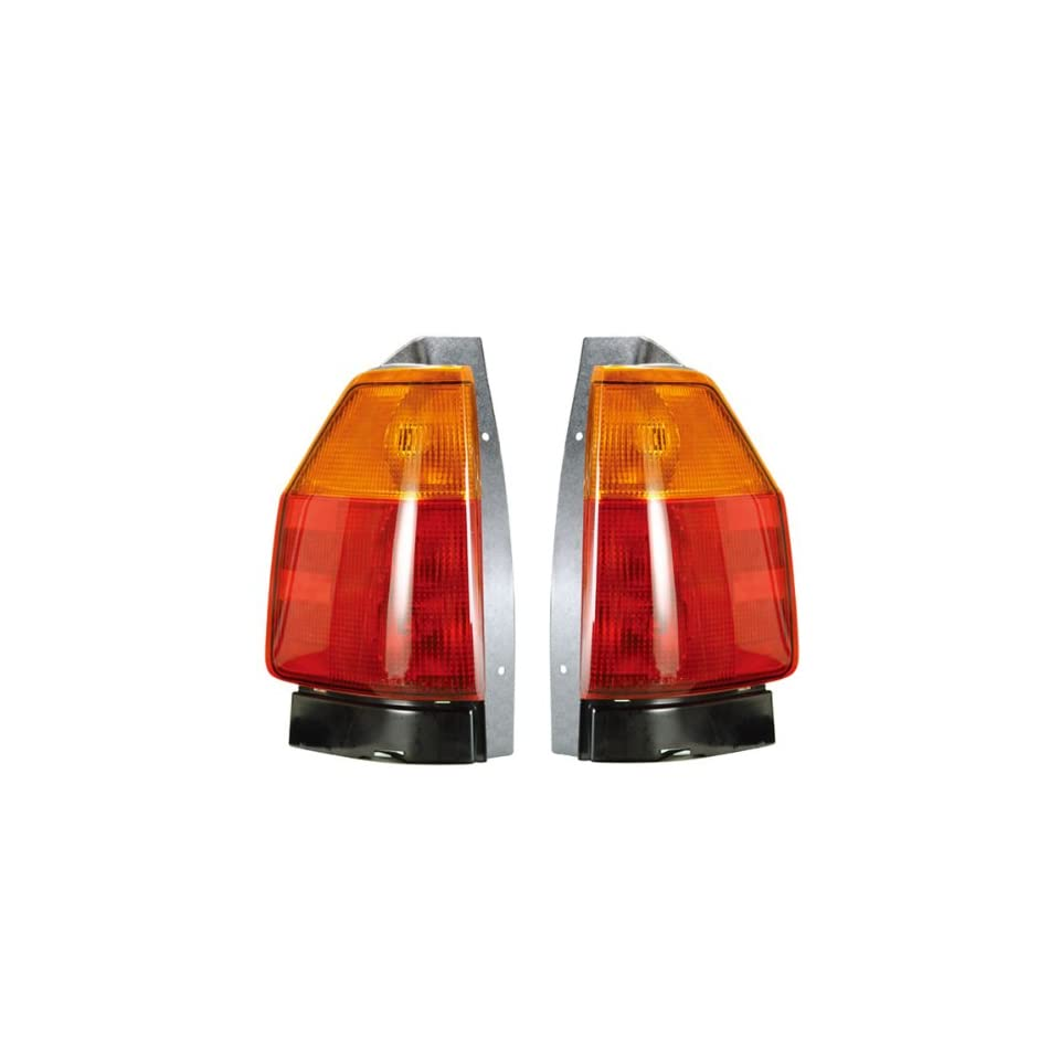 2002 2009 GMC Envoy Taillight Taillamp Rear Brake Tail Light Lamp (Without Bulbs or Connector Plate) Pair Set Left Driver AND Right Passenger Side (2002 02 2003 03 2004 04 2005 05 2006 06 2007 07 2008 08 2009 09)