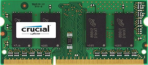 Crucial 4GB Single DDR3 1600 MT/s (PC3-12800) CL11 SODIMM 204-Pin 1.35V/1.5V Notebook Memory Module CT51264BF160B