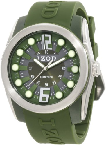 IZOD Men's IZS1/7 KHAKI Sport Quartz 3 Hand Watch