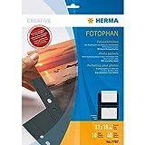 Herma 7787 Fotosichthüllen (130 x 180 mm) 10 Hüllen schwarz