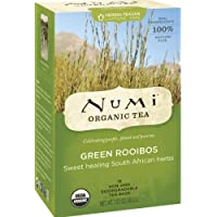 Numi Organic Tea Green Rooibos, Herbal Teasan, 18 Count Tea Bags (Pack of 3)