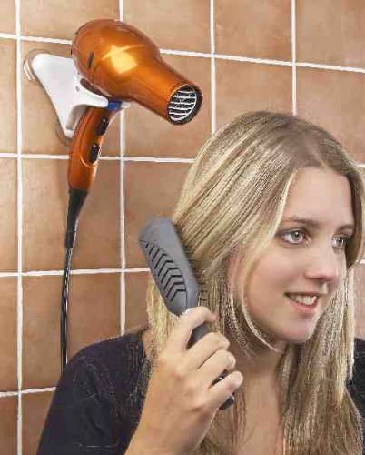 HANDS FREE HAIR DRYER HOLDER – COMPACT FOR HOME AND TRAVEL! BY JUMBL