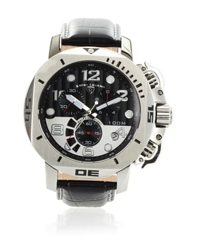 Swiss Legend Men's 10538-01 Scubador Collection Chronograph Black Leather Watch